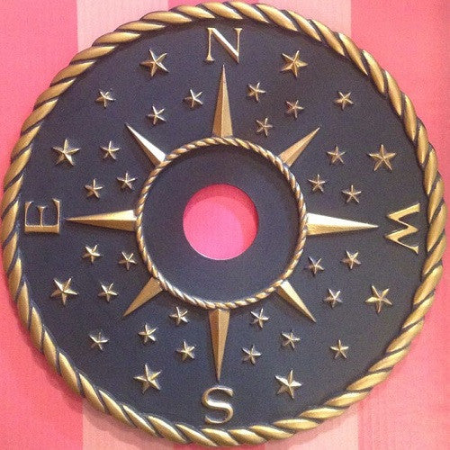 blue gold star ceiling medallion
