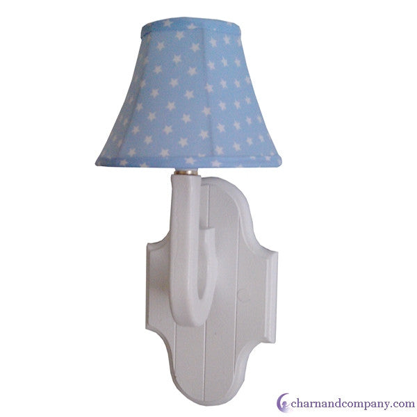 Blue stars wall sconce