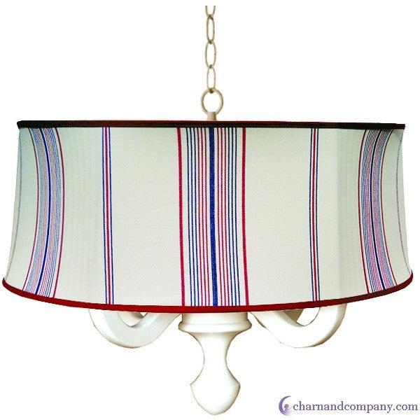 Waterline drum chandelier