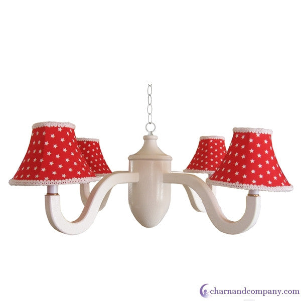 Star spangled acorn chandelier