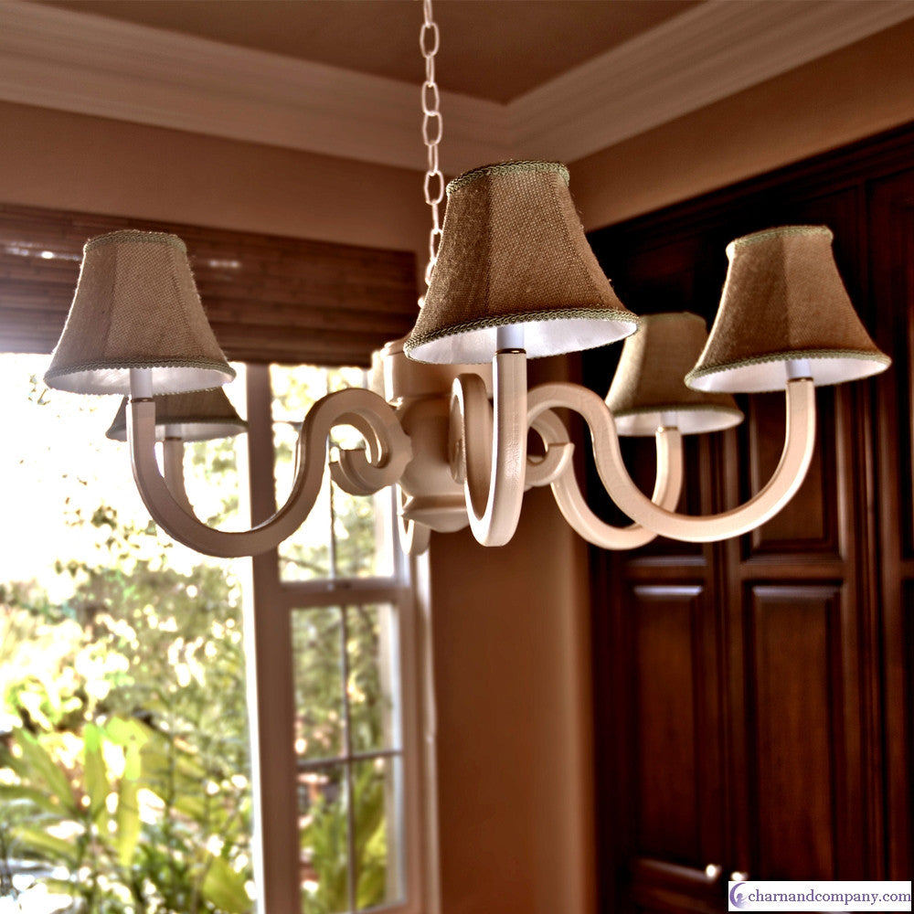 Burlap large chestnut chandelier