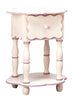 Camel round in table in white with rose accents