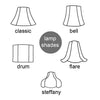 lampshade options
