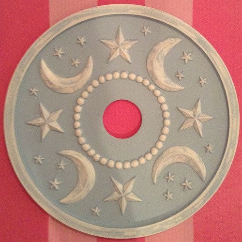 Moon and Stars Ceiling Medallion