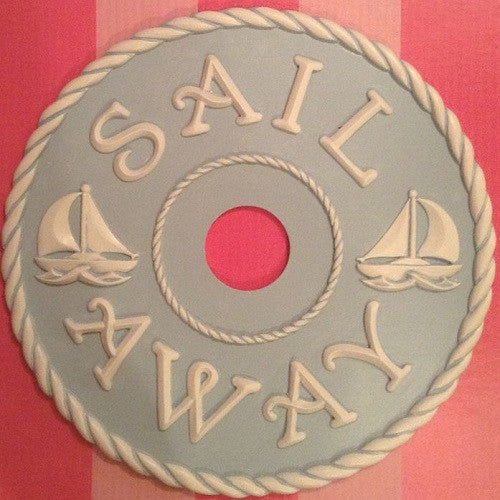 Nautical sailing ceiling medallion