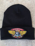 dream wings beanie - BLACK