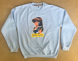 dream girl CREW sweatshirt - POWDER BLUE