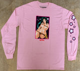 lum chan LONG SLEEVE t-shirt LIGHT PINK