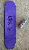 HAND PAINTED PURPLE bug 8.25 limited edition board with spray can