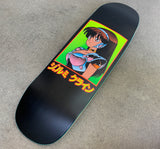 dream girl board MATTE BLACK original size 9.5 X 31.75 wheelbase 14.25