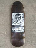 jeremy klein portrait hand screened skateboard 9.75 X 32.25 BROWN