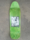 SIGNED jeremy klein portrait hand screened skateboard 9.75 X 32.25 BROWN