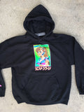 mark gonzales dream girl hooded sweatshirt - BLACK