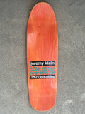 jeremy klein hand screened dream girl board BROWN original size 9.5 X 31.75 wheelbase 14.25