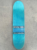 jeremy klein dream girl hand screened skateboard TEAL BLUE 8.25 X 32.25