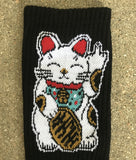 unlucky cat socks - BLACK