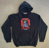 dream hawk hooded sweatshirt - BLACK