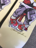 SIGNED BY LANCE jeremy klein hand screened black eye kid board by lance mountain 8.55 X 32.5
