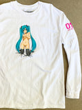 hatsune LONG SLEEVE t-shirt WHITE
