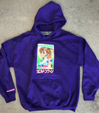 mark gonzales dream girl hooded sweatshirt - PURPLE