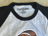 dream girl raglan t-shirt heather grey/black