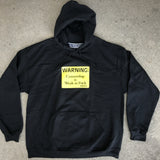 weak as fuck hooded sweatshirt - BLACK