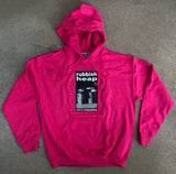 rubbish heap hooded sweatshirt - PINK/HELOCONIA w/ free sticker pack