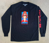 asuka LONG SLEEVE t-shirt BLACK