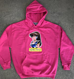 dream girl hooded sweatshirt - PINK/HELOCONIA