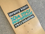 jeremy klein hand screened dream girl board DIPPED METALLIC GOLD original size 9.5 X 31.75 wheelbase 14.25