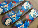 rockman x galaxy hand painted background 8.25 X 32.25 HAND SCREENED