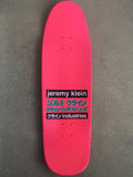 jeremy klein hand screened dream girl board DIPPED PINK original size 9.5 X 31.75 wheelbase 14.25