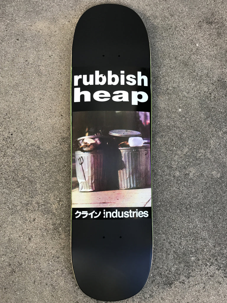 SIGNED rubbish heap limited edition board MATTE BLACK 8.5 X 32.5
