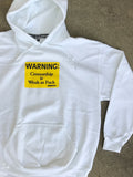 weak as fuck hooded sweatshirt - WHITE