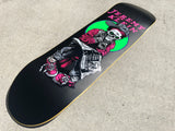 SIGNED black eye kid skull 8.5 X 32.25 hand screend MATTE BLACK