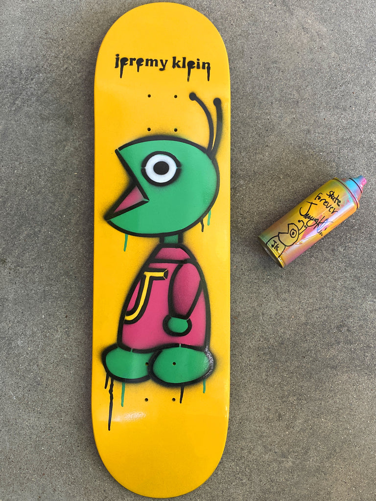 HAND PAINTED bug 8.5 limited edition board with spray can