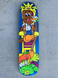 jeremy klein candy bar 2 silk screened skateboard 8.25 X 32.25 original shape