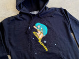 lum chan 2 hooded sweatshirt - BLACK