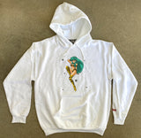lum chan 2 hooded sweatshirt - WHITE