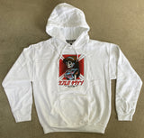dream hawk hooded sweatshirt - WHITE