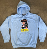 dream girl hooded sweatshirt - POWDER BLUE