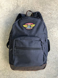 dream wings canvas backpack - BLACK