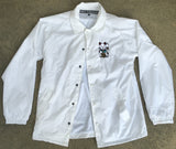 kawaii unlucky cat jacket - WHITE