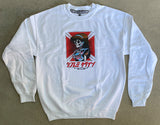 dream hawk CREW sweatshirt - WHITE