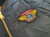 dream wings MA-1 lightweight flight jacket - BLACK