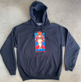 asuka hooded sweatshirt - BLACK