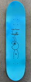 HAND PAINTED bug 8.5 limited edition board with spray can BLUE