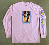 eternal moon LONG SLEEVE t-shirt LIGHT PINK