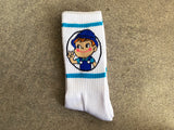 milk boy socks - WHITE