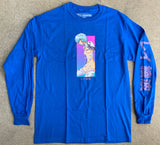 rei LONG SLEEVE t-shirt ROYAL BLUE